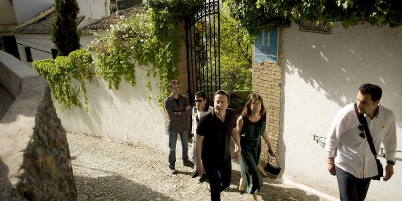 David Cameron y su mujer Samantha en Granada