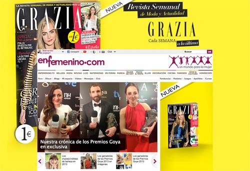 Grazia se anuncia en enfemenino.com