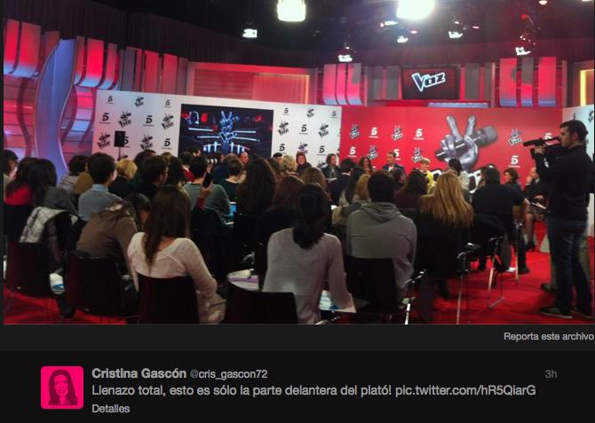 Cristina Gascón, de Mediaset, expresa en Twitter el valor de la presencia de otros medios.