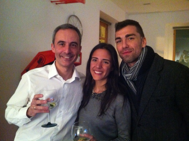 Jorge Segado, Carlota Sacristán y Raúl Godoy.