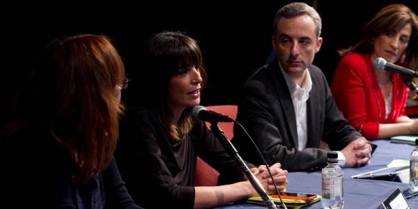 Flora Sáez, Cristina Mitre, Jorge Segado y Ana Samboal